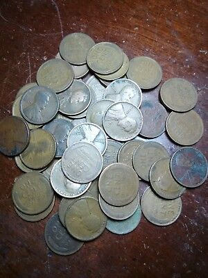 Lot of 47 Teen Dates Lincoln Wheat Cents Pennies