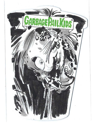 2019 Garbage Pail Kids | We Hate the 90's | LOWELL ISAAC Die-Cut Sketch GPK