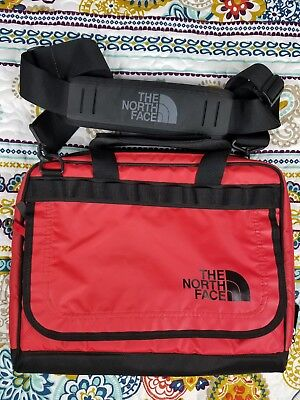 The North Face Laptop Computer Messenger Side Bag Vintage Red Carry On Travel