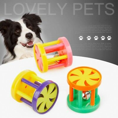 Pet Dog Puppy Cat Bell Ball Chewing Sound Toys Plastic Playing Funny Chew BSJ