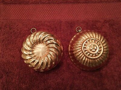 Vintage Copper Molds Set Of Two