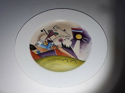 Antique Russian Soviet Propaganda Porcelain Plate By Wassily Kandinsky 1923