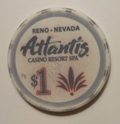 Casino Chip From  Atlantis Casino Reno, Nevada(1) $1.00 Poker Room Chip