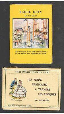 Colour POSTCARDS by RAOUL DUFY & FRENCH COSTUMES
