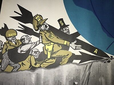 """Vintage Anti US Soviet Russian Poster, 1983? rare, Original- """"We Will Not Allow"""""""