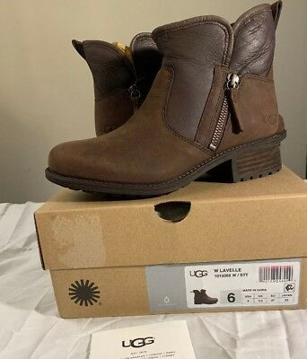 43caad3c22b UGG LAVELLE 1013366 STOUT WOMAN'S BOOT Sz 6 AUTHENTIC NEW WATER-RESISTANT  NEW