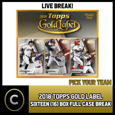 2018 Topps Gold Label Baseball 16 Box (Full Case) Break #a109 - Pick Your Team
