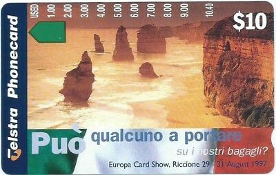 Rare Mint $10 Europa Show: 'someone Bring Our Baggage' Telstra Phonecard