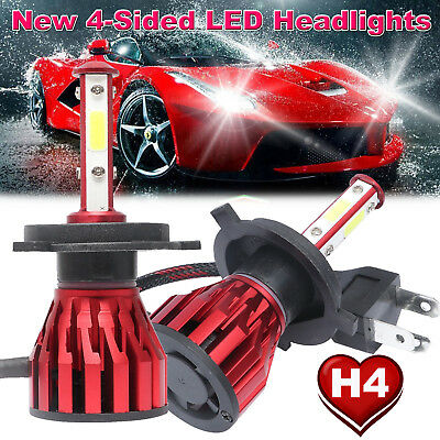 CREE H4 HB2 9003 1700W 255000LM 4-Side LED Headlight Kit Hi/Lo Bulb Super Bright