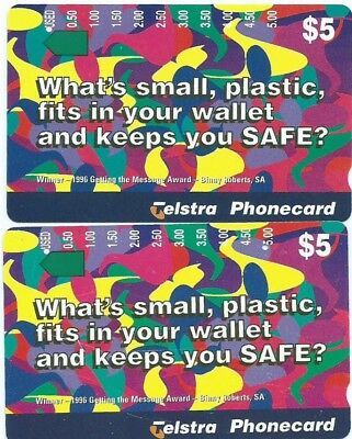 Rare Prefix 1290: $5 Wallet Telstra Phonecard + Freebie