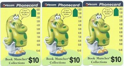 Rare(?) Prefixes 702, 739, 748: $10 Bookmuncher 1 Hole Telstra Phonecards