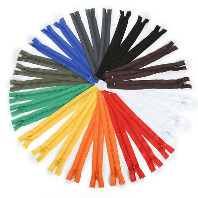 10Pcs/lot 22cm Nylon Invisible Coil Zippers Tailor for Sewing Crafts Multi-color
