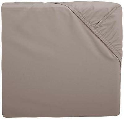 Pinzon 300 Thread Count Percale Fitted Mini Crib Sheet, Platinum