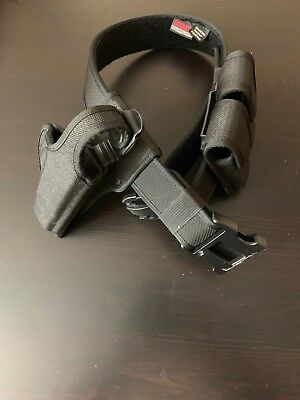 "Bianchi International Accumold Nylon Tactical Belt with holster  :34""-40"""