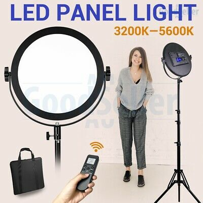 Bi-color LED Video Panel Light+Reverse Lighting Stand for Photography Shooting