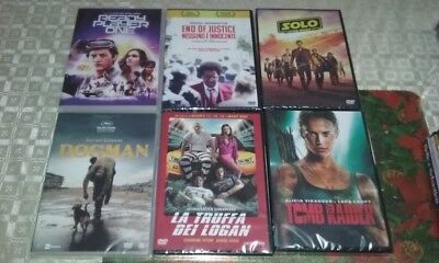 4 dvd nuovi READY PLAYER ONE/END OF JUSTICE/SOLO S.W./DOGMAN/TOMB RAIDER/TRUFFA