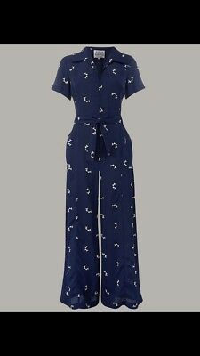 The Seamstress of Bloomsbury Jumpsuit Vintage repro 40s Pin up swing rockabilly