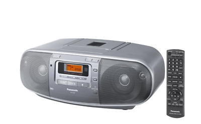Panasonic RXD50 Portable CD Cassette Recorder with remote - Silver