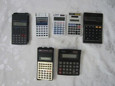 5 Vintage Calculators Inc Casio fx-82SX all Working + 2 0thers Parts or Repairs
