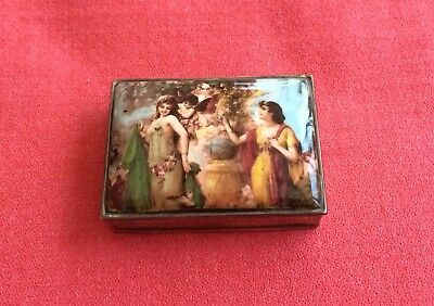 Beautiful Solid Silver Snuff Or Pill Box, With  Classical Lid, Assay 1998