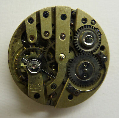 Vintage pin set pocket watch movement and dial for spares or repair