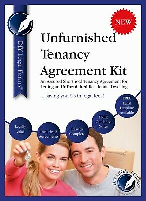UNFURNISHED TENANCY AGREEMENT KIT, includes 2 TENANCY AGREEMENTS and GUIDANCE.