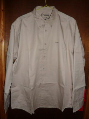 DOCKERS KHAKIS L 41 42 T3 chemise homme NEUF beige casual XL 100 % coton aa94b3ae513