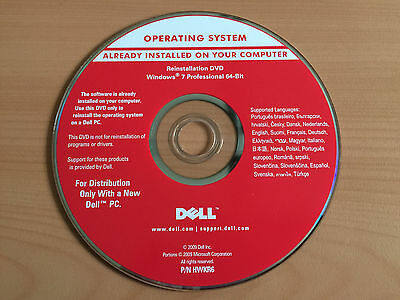 Windows 7 Professional 64 bit Key integriert DELL Reinstallation DVD (4)