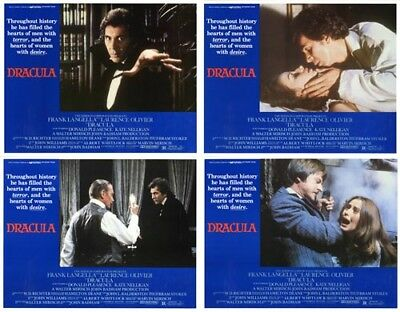 DRACULA (1979) U.S. Lobby Cards Complete Set of 4 (8 x 10 Inches)