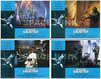 BATTLESTAR GALACTICA (1978) U.S. Lobby Cards Complete Set of 4 (8 x 10 Inches)