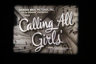 16mm film. b/w sound. CALLING ALL GIRLS. warner bros musical. excellent.