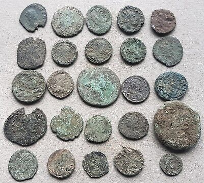 25 Unresearched Roman Coins, for cleaning and attribution.