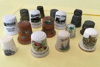 Thimble Collection - A variety of 15 different pieces