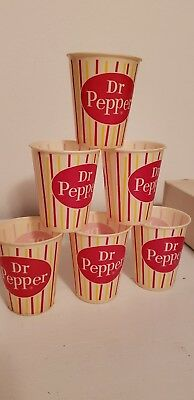 6 VINTAGE Dr Pepper Soda Dixie Drinking Sipping Cup 1960s wax sample