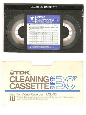Betamax  Head Cleaning Video Cassette Tape