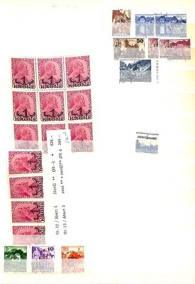 [OP7711] Liechtenstein lot of stamps  on 12 pages -see photos on description