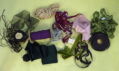 MIXED LOT of Ribbons & TRIMMINGS to make ANTIQUE DOLL DRESS, Dollmaking