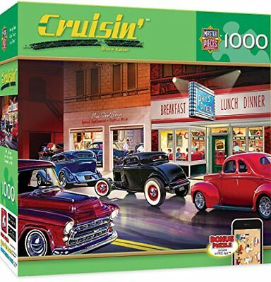 MasterPieces Cruisin' Phil's Diner - Classic Cars 1000 Piece Jigsaw Puzzle by Br
