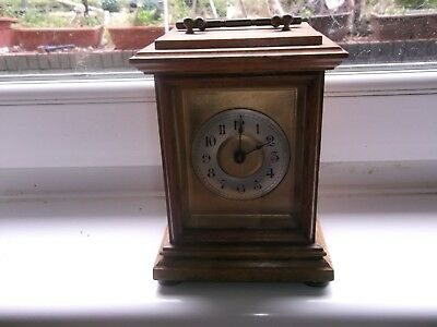 carriage / mantel clock  in good order no key