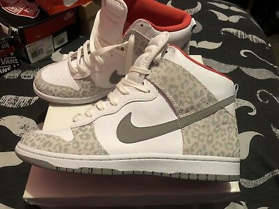 168f4620abdfb NIKE LEOPARD PRINT Dunk High Top Trainers Size 9 Uk - EUR 29