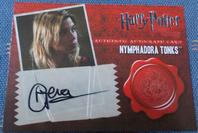 Tonks Natalia Tena Trading Card Autograph Harry Potter Superbob Game of Thrones