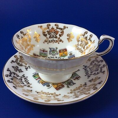 Paragon Canada Coat Of Arms And Emblems Fine Bone China Tea Cup And Saucer