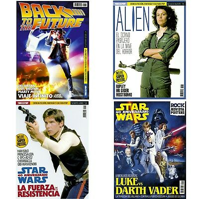4 Magazines Pack (BACK TO THE FUTURE + ALIEN + HAN SOLO + STAR WARS) THIS IS POP