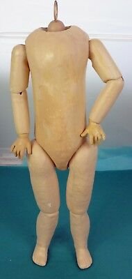 ORIGINAL PAPIER MACHE JOINTED FRENCH ANTIQUE DOLL BODY with SFBJ LABEL