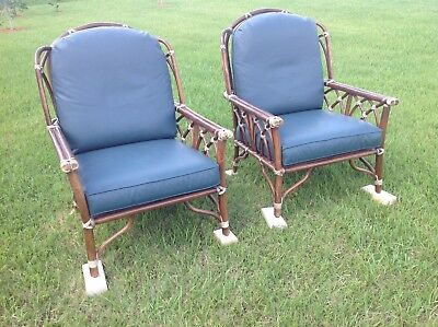2-McGuire of San Francisco Vintage Bamboo Lounge Arm Chairs