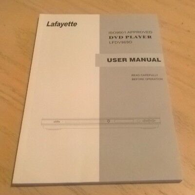 Lafayette LFDV969D DVD Player User Guide Instruction Book Manual LFDV969
