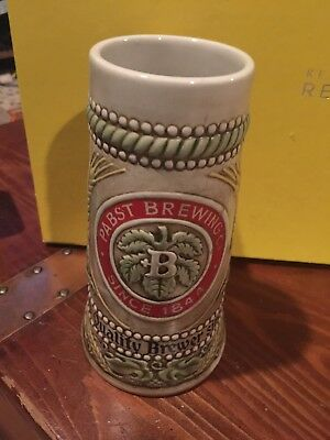 Vintage Pabst Brewing Company Ceramic Beer Stein Made by Ceramarte Brazil