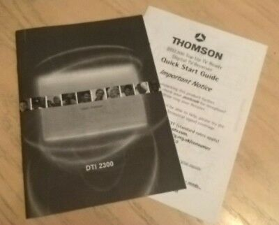 Thomson Freeview Box DTI2300 User Guide Instruction Book  Manual + Quick Start