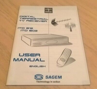 Sagem Freeview Set Top Box ITD612 ITD602 User Guide Instruction Book Manual