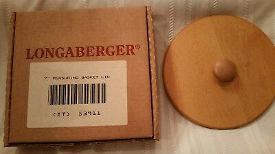 """Longaberger 7"""" Classic Stain Lid for Measuring Basket New In Box"""